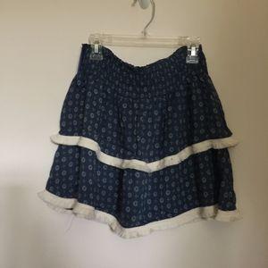 Vintage Havana Mini Medallion Fringe Skirt